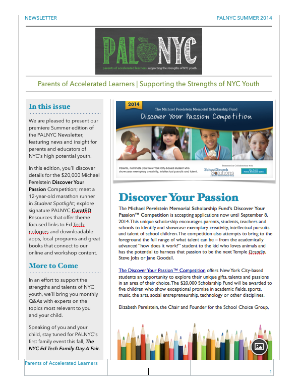 PALNYC NEWSLETTER